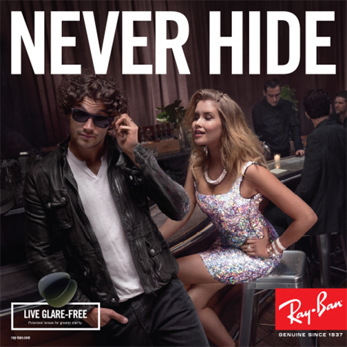 Never Hide With Ray-Ban Polarised