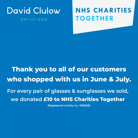 NHS thank you David Clulow Opticians