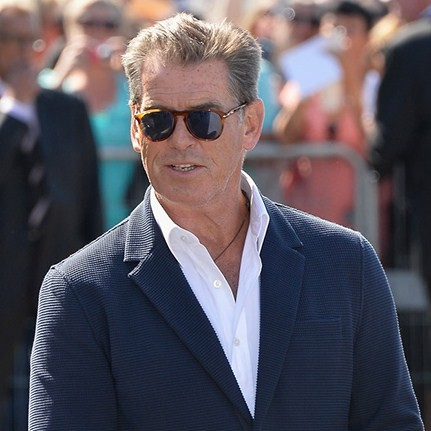 Pierce Brosnan wears Persol